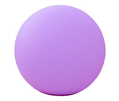 Telefunken Solar Ball 30 Gartenleuchte, Kugel 30 cm, mit sanftem Farbwechsel, sehr hell mit 1,2W, nachhaltig durch austauschbare Akkus, hohe Ladeleistung von 1,5W, wasserdicht