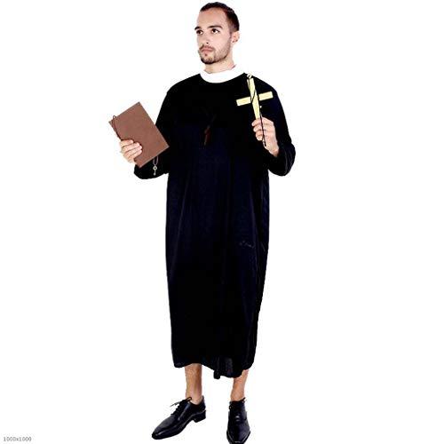DDHZTA Jungfrau Maria Jesus Priester Kostüm Schwester Kostüm Fancy Ball Party Kostüm Cosplay Kostüm,Pastor2 (Und Halloween-kostüme Maria Jesus)