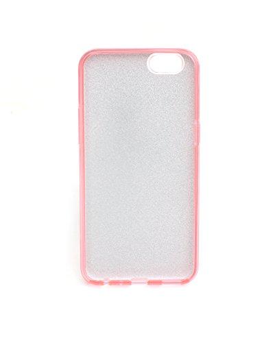 Sharp Icon Plain Color Glitter Bling Designer Soft Fancy Back Case Cover  for Oppo A57