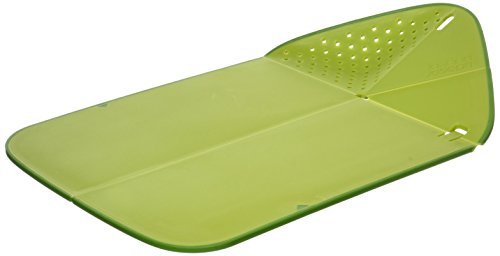 Joseph Joseph JJ60081 Rinse&Chop Plus Schneidebrett mit Sieb, grün Chop Board