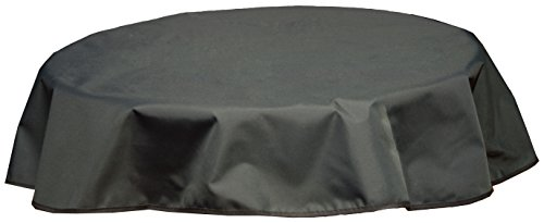 beo Outdoor-Tischdecken wasserabweisende, rund, Durchmesser 160 cm, schwarz / anthrazit
