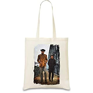 Design Things Midnight Cowboy Hustlers Custom Printed Tote Bag| 100% Soft Cotton| Natural Color & Eco-Friendly| Unique, Re-Usable & Stylish Handbag For Every Day Use| Custom Shoulder Bags By