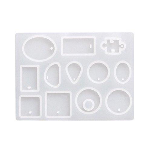 Toogoo 12 disegni cabochon stampo in silicone collana pendente resina monili che fanno stampo mano diy