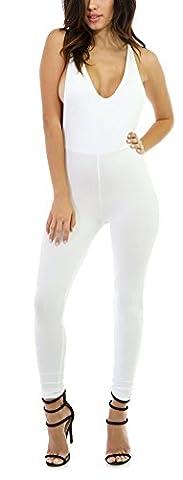 SunIfSnow - Combinaison - Pull - Uni - Sans Manche - Femme - blanc - XL