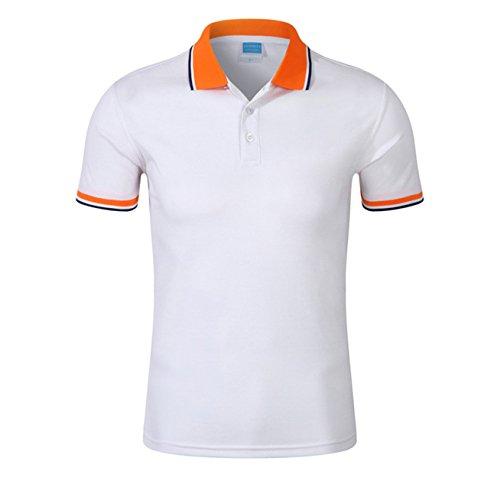Polo da donna, Mttroli polo a maniche corte, slim fit, in cotone abbigliamento tops 2confezione White ( Pack of 2 )