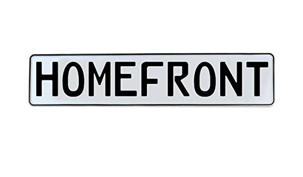 Vintage Parts 338652 Homefront White Stamped Street Sign Mancave Wall Art