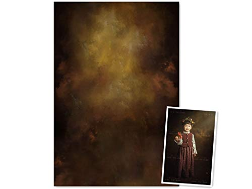 WaW 1.5 x 2.2 m Brun Foncé Tissu Fond Photographique Vintage Oil Painting Fond Décors pour Studio Photo Portrait Enfants