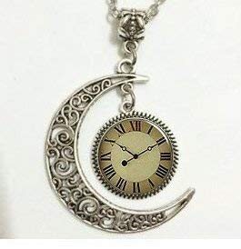 Crescent Moon Anhänger, Anhänger Kompass, Peace Zeichen Anhänger, Mond Anhänger, Charm, Anhänger, Halskette Mond, Crescent Moon Halskette,