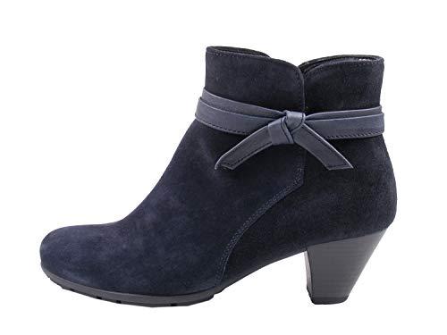 Gabor Damen Ankle Boots 95.642,Frauen Stiefel,Ankle Boot,Halbstiefel,Damenstiefelette,Bootie,knöchelhoch,Blockabsatz 5cm,F Weite (Normal),Pazifik,UK 6 -