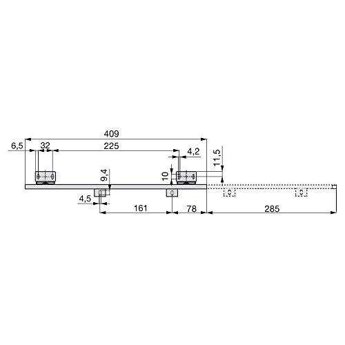 comprare on line Emuca 3004109 Set di Guide con Cuscinetti a Sfere e Regolazione in Altezza per Cassetto/Ripiano Porta-Tastiera, Nero prezzo