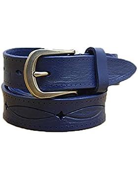 HOMEE Damen schmalen Abschnitt handgemachte Gürtel Mode Jeans Gürtel Nadel Schnalle weich
