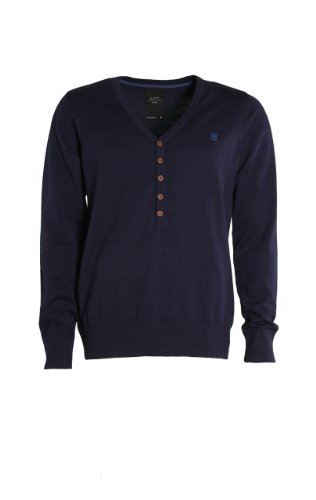 G-Star-Amos Grandad maglione a maglia in blu scuro Blau M
