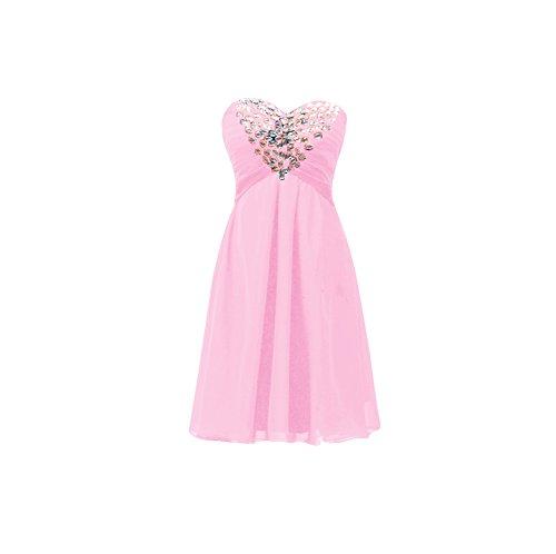 Bridal_Mall -  Vestito  - Senza maniche  - Donna Rosa