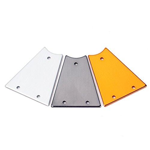 3x Couvercles en Alliage Décoration pour Manche de Guitare Electrique SG LP