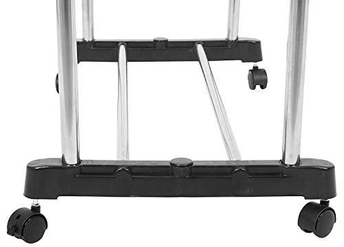 Nityasiddh Heavy Duty Steel Double Pole Cloth Hanger Drying Rack