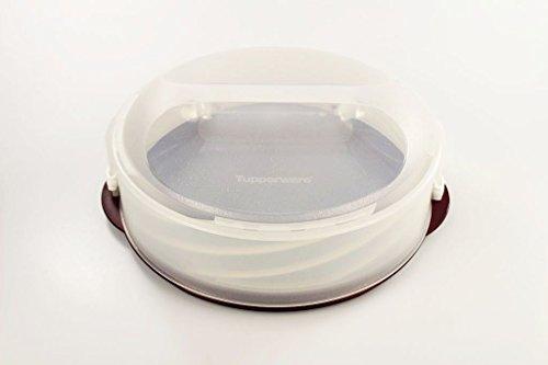 ORIGINAL TUPPERWAREServet Abatible Tarta Twistzarzamoracáscara con el brilloØ 31,5 x 20,0 cm HØ 31,5 x 13,0 cm HEl nombre de Tupperware está protegido por la ley y se utiliza aquí porque es parte de la lista y las características de calidad