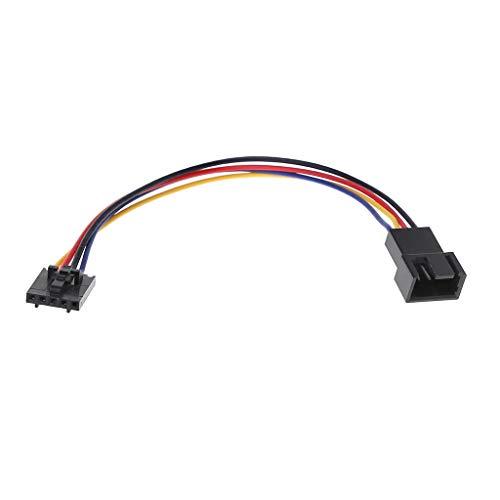 ❤Chaunce Lüfteranschluss Adapter Konverter Verlängerungskabel Kabel für Dell Styles 5-polige bis 4-polige Latch-PC-Laptops