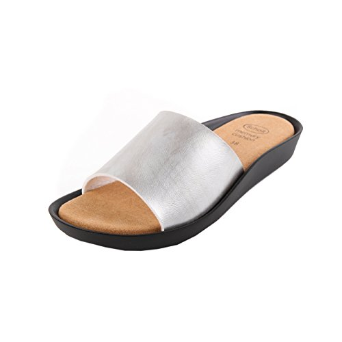 Scholl Meissa Silver Synthetic Leather Silber