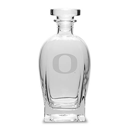 University Glass NCAA Oregon Ducks Luigi Bormioli Rossini Decanter, Clear, 23.75 oz