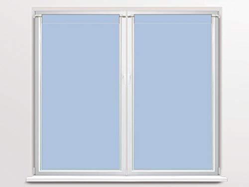 Soleil d'ocre 042552 coppia di tendine a vetro 45 x 90 cm dolly blu