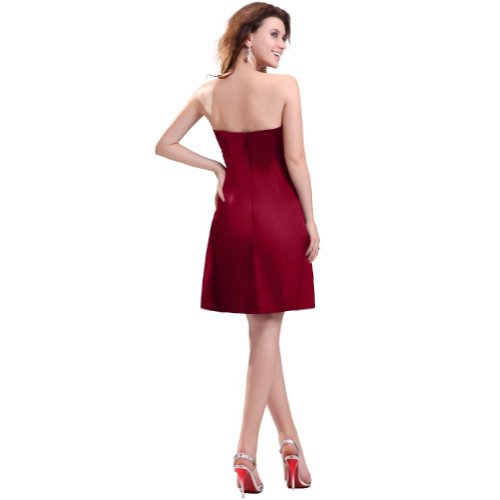 Lemandy - Robe -  Femme Rouge - Bordeaux