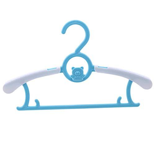 CTOBB Neuestes Einstellbare Kleiderbügel Rack-Kunststoff-Tuch Display-Aufhänger für Babys Erwachsene Kinder Kinderkleidung Wschetrockner hängend, Blau (Einstellbar Tuch Rack)