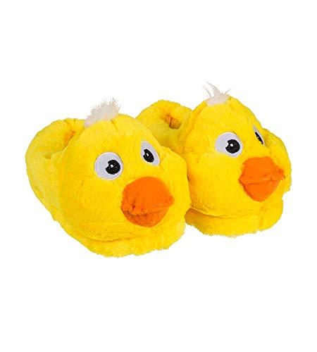 IDEAL TREND Ente Kuschel Hausschuhe Größen 31 bis 42 Auswahl Mode Pantoffeln Latschen: Größe: 39/40