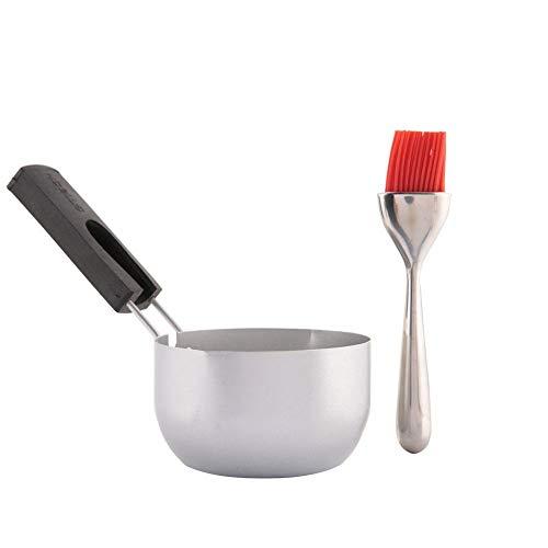 Jeffergarden Edelstahl Gewürzschüssel Sauce Pan Gewürzbehälter Werkzeug Set für BBQ Picknick Grill Werkzeugsätze