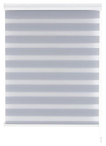 Blindecor Nd100 Store enrouleur double tissu Nuit et jour 100 x 180 cm gris