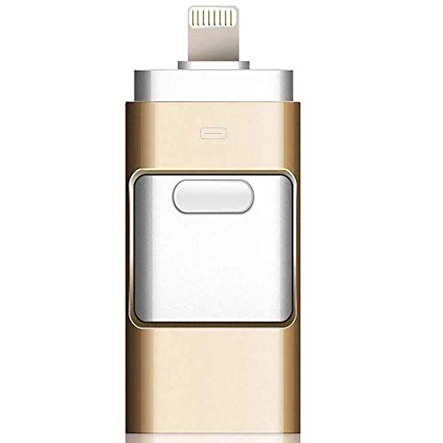 BWHTY USB-Flashlaufwerk Max. 128 GB 3-in-1-kompatibles iPhone, USB 3.0-Adapter Externer Speicher Memory Stick-Adapter Erweiterung Kompatibel mit Android/iPad/iPod/Mac/PC/iOS - 16gb Ipod Verwendet