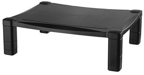 Kantek MS400 Monitor/Laptop-Ständer, höhenverstellbar, 43,2 x 33 x 7,6 cm Eine Ebene DESIGN 1 schwarz