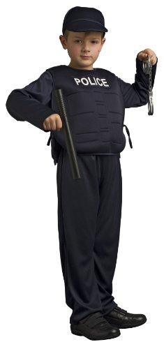 CARITAN 59742 - Disfraz de policía para niño (8 años)