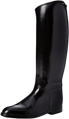 HKM Erwachsene Reitstiefel -Herren Standard- mit Elastikeinsatz9100 schwarz47 Hose, 9100 schwarz, 47