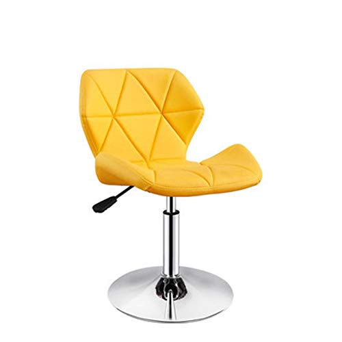Oipoodde Barhocker Stilvolle Barhocker höhenverstellbar Leder Moderne Barhocker 360-Grad-Drehstuhl Barhocker Stuhl zurück (Farbe : C9, Größe : Height 37-53cm)