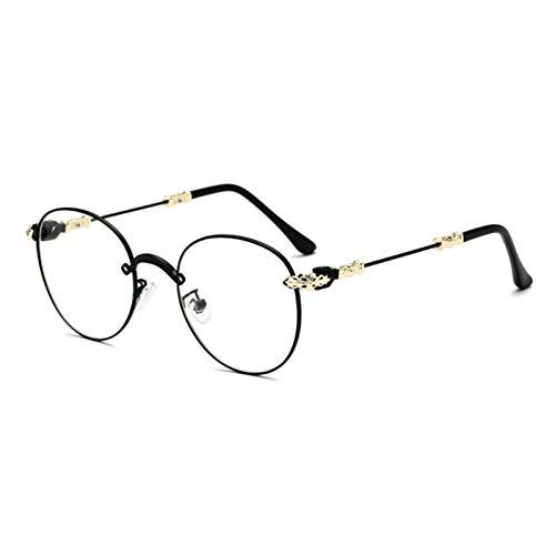 NECCT Gothic Vintage Double Colors Metall Brillengestell Herren Retro Gradient Runde Sonnenbrille,Black Clear