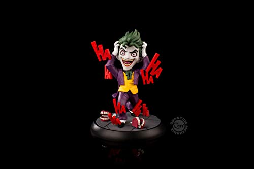 """Based on the Joker as depicted in""""The Killing Joke"""" by Alan Moore, our Q-Fig shows The Clown Prince of Crime in his traditional purple suit surrounded by his favorite toys, the chattering teeth. His manic laughter comes to life around him as his expr..."""