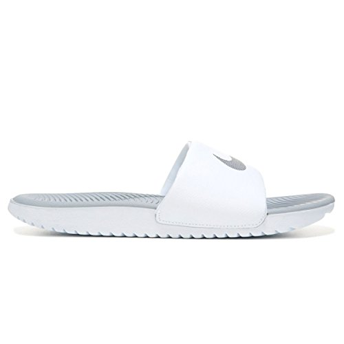 Nike Womens Kawa Slide White Silver Synthetic Sandals 36.5 EU