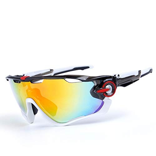 Blisfille Schutzbrille Werkstatt Polarisierte Sonnenbrille Im Freien Radfahren Fahrrad Brille Bewegung Grey White Red White Damen Herren