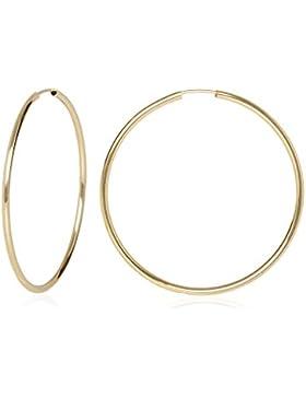 MyGold Damen-Creolen Ohrringe Gelbgold 333 / 585 Gold (8 Karat / 14 Karat) Ø 50mm groß dünn fein Hochglanz ohne...