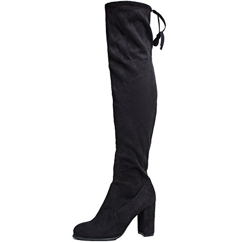 SheSole Womens Ladies Black Winter Thigh High Boots Size Black UK6