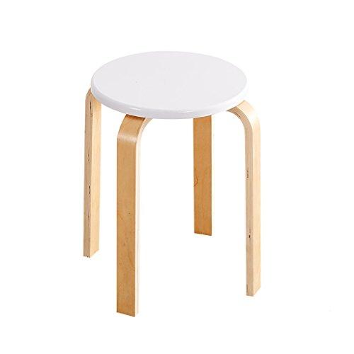 Round wooden stool JF Silla de Madera Redonda/Taburete de Madera/Silla de Comedor Acolchada 32cm * 45cm Opciones de Color (Color : B)