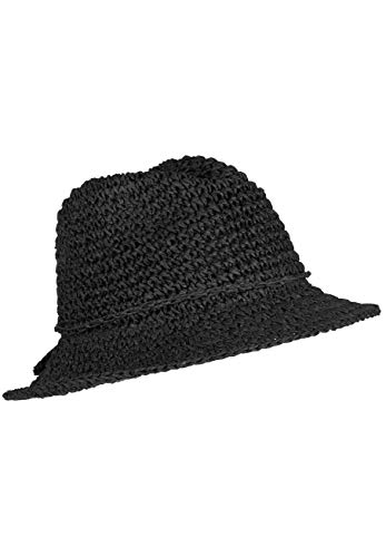 ra, sommerlicher Häkelhut aus Papier-Stroh, Farbe: Black ()