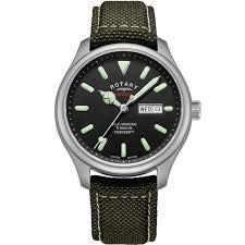 Rotary | Men's Heritage Automatic |Titanium Case | Khaki Strap | GS05249/04