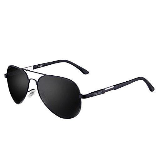 FEIDU Polarisierte Pilotenbrillen Männer Metallrahmen Sonnenbrillen für Männer Frauen FD9001...