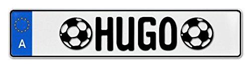 Geprägtes Namensschild zum Selbstgestalten ✓ Witterungsbeständig ✓ Vielfarbig ✓ Ideale Geschenkidee   Individuelles Nummernschild, Aluminium-Schild   Autoschild mit Namen & Spruch selbst gestalten   Aluschild, Kfz-Kennzeichen-Schilder mit Wunschtext