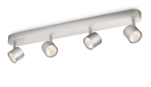 Philips myLiving LED Spotbalken, Star 4-flammig, aluminium -