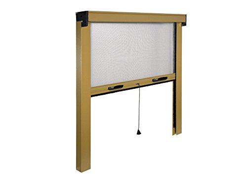 Mosquitera fina Vertical enrollable a Muelle. De aluminio barnizado. riducibile de 20–25cm al máximo.