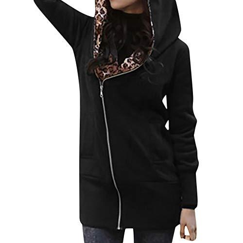 r Junioren Frauen lose gestreift Langarm Crop Top Pullover Sweatshirt schwarz weiß Softshelljacken für Damen ()