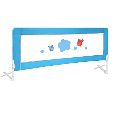 Vogel 150cm Kinder Bettgitter Bettschutzgitter Faltbar Matratze Gitterbett Blau DHL (blau, 150cm)