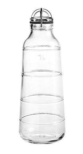 Holmegaard Scala Flasche 1L, transparent H 28cm Ø 10cm
